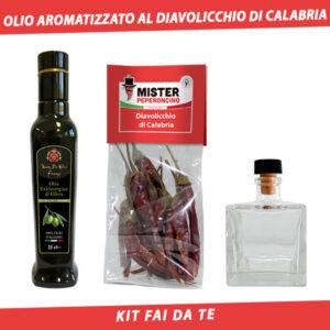 olio aromatizzato al diavolicchio di calabria