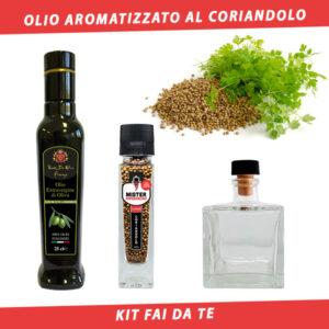 olio aromatizzato al coriandolo
