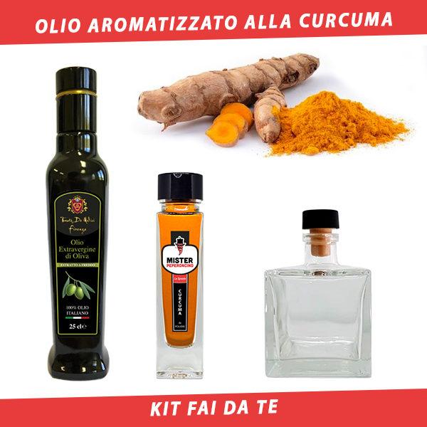 olio aromatizzato alla curcuma
