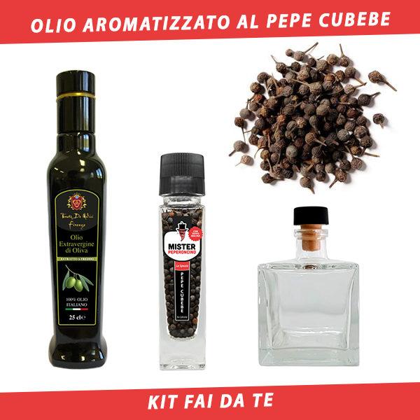 olio aromatizzato al pepe cubebe