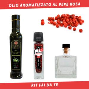 olio aromatizzato al pepe rosa