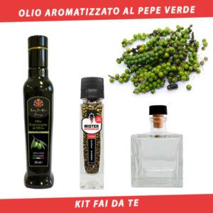 olio aromatizzato al pepe verde
