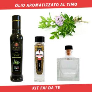 olio aromatizzato al timo